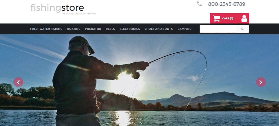 Fishing Store Ecommerce Website Template
