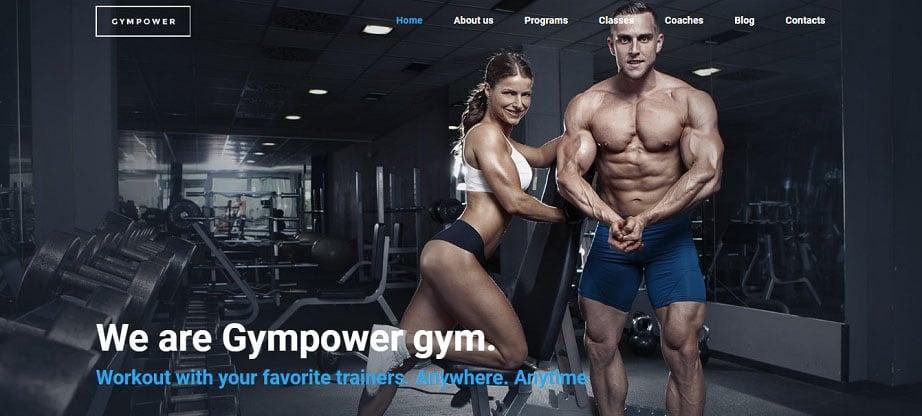 Gympower - Fitness & Bodybuilding Website Design