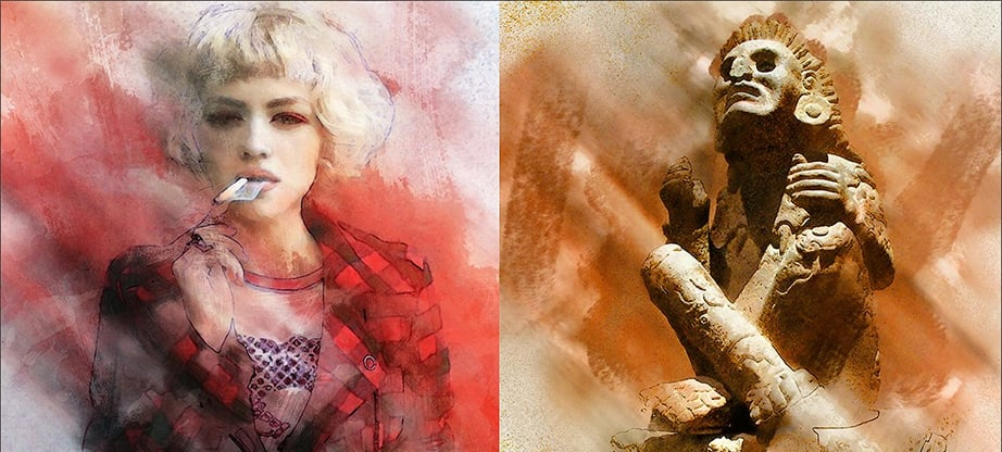 Free Photoshop Actions: Sketch and Painting Effects Set