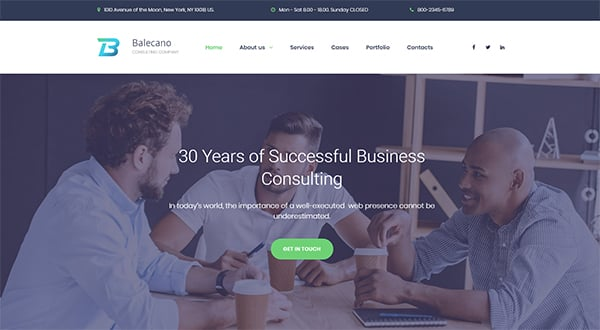 Consulting website templates for your business efficiency consulting website template wajeb Choice Image
