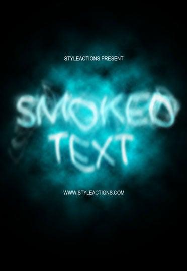 smoked text