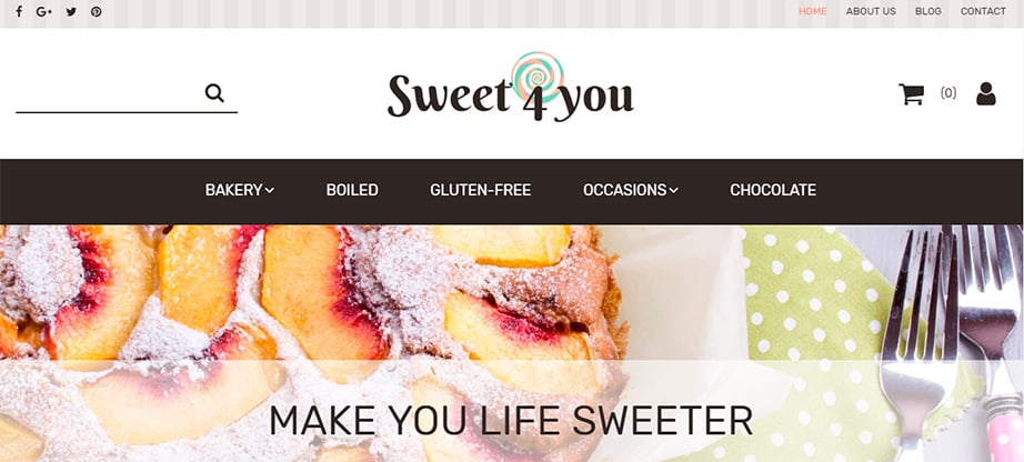 Sweet 4 you Ecommerce Website Template