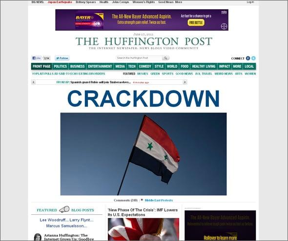 newspaper style website