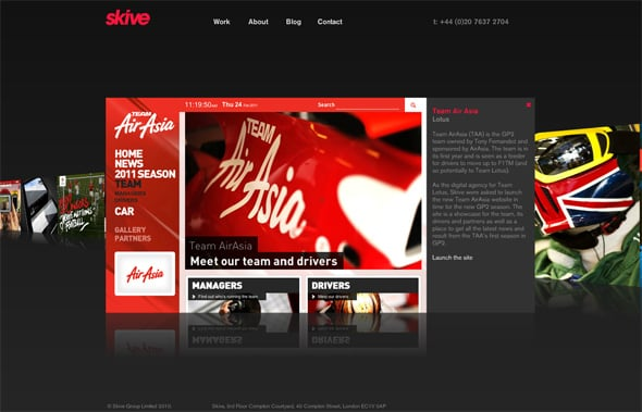 Cool Flash Websites Top From DesignWebKit - Cool car websites