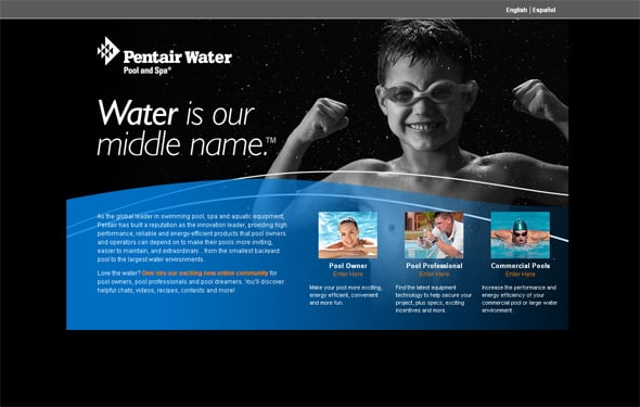websites with water elements