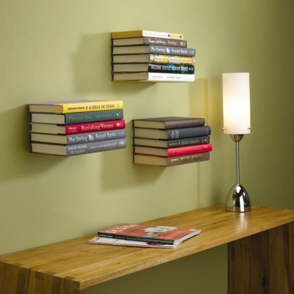 invisible bookshelf for office