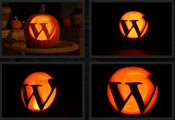 Wordpress Halloween pumpkin
