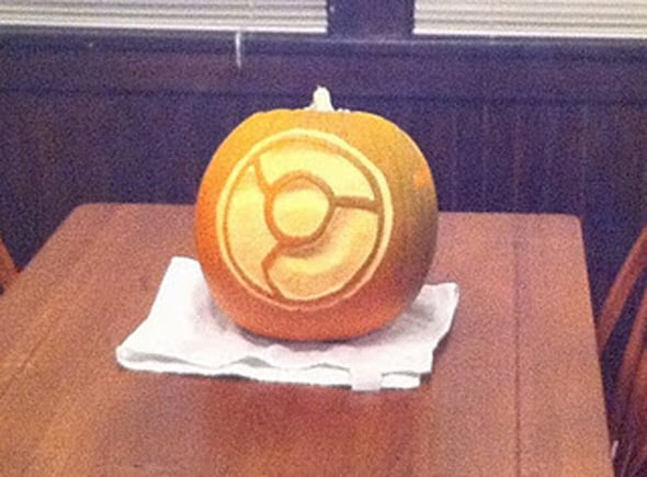 Google Chrome Halloween pumpkin
