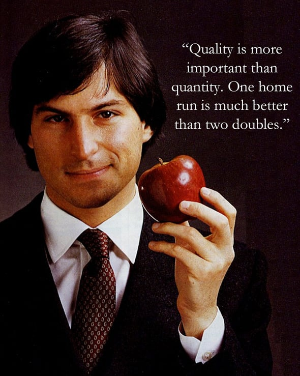 Steve Jobs visualized quotes