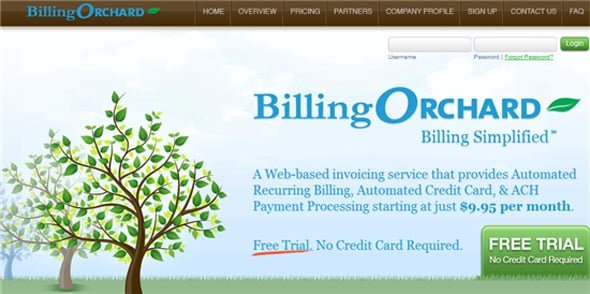 Billing Orchard invoicing app