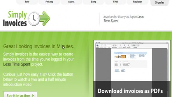 Simply Invoices app
