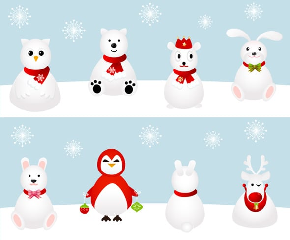snow_xmas_animal_icons