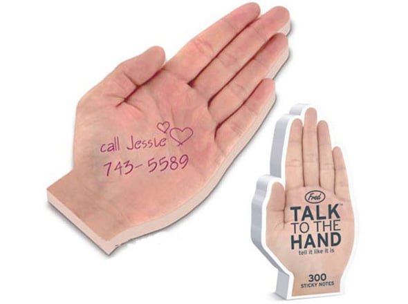 talk to the hand sticky note pad