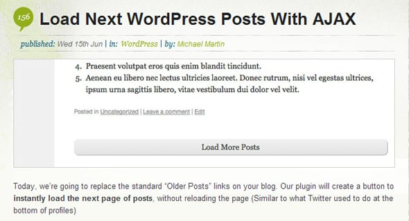 Load Next WordPress Posts With AJAX