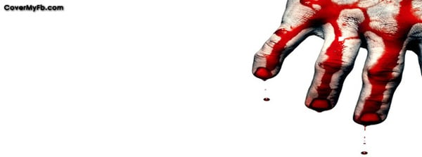 Bloody Hand Facebook Cover
