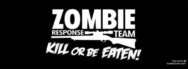 Zombie Halloween Facebook Covers