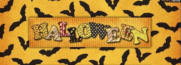 Halloween Bats Facebook Cover