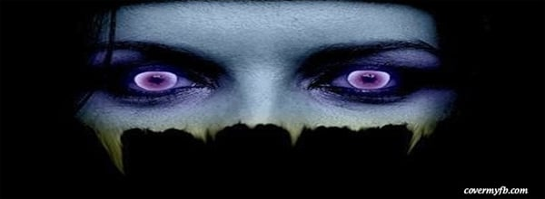 Evil Purple Eyes Facebook Cover