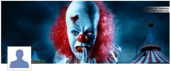 Evil Clown Profile Facebook Cover
