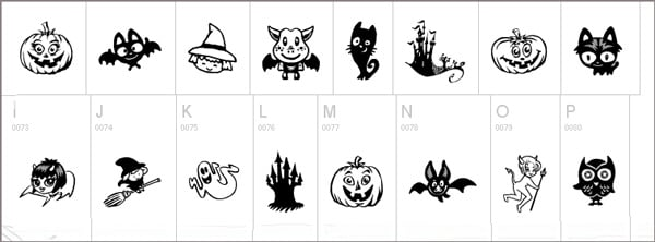 free Halloween font of 2012