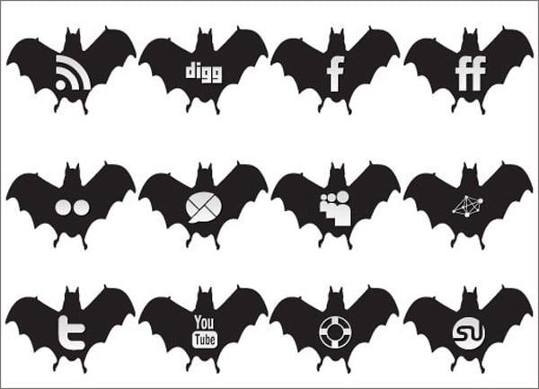 free Halloween icons set: social medi  halloween icons