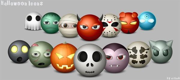 free Halloween icons set