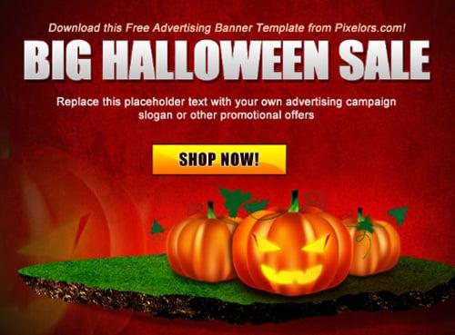 free Halloween banner template