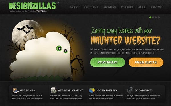 Websites and Facebook Covers Halloween Customizations