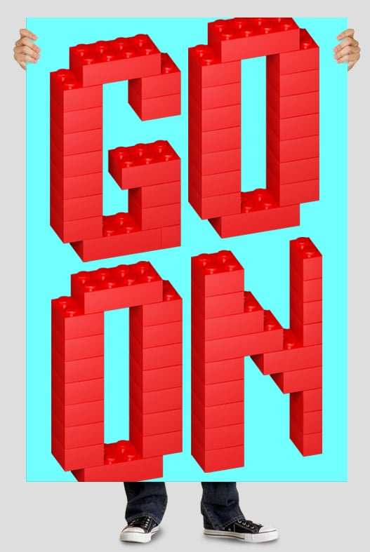 Lego Red font