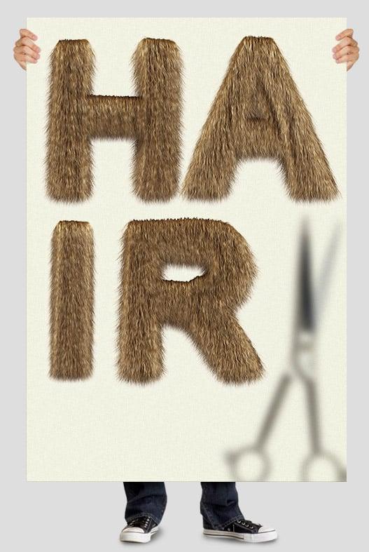 Handmade fonts: Hair font