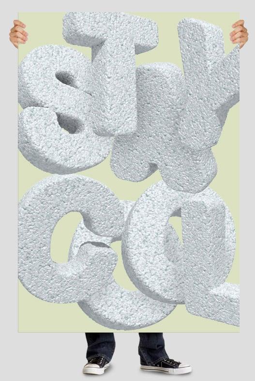 Foam Plastic font