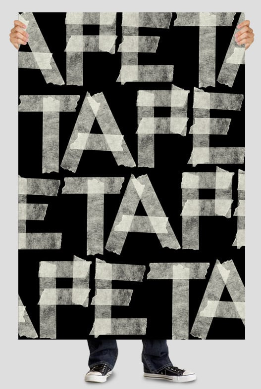 Handmade fonts: Tape White font