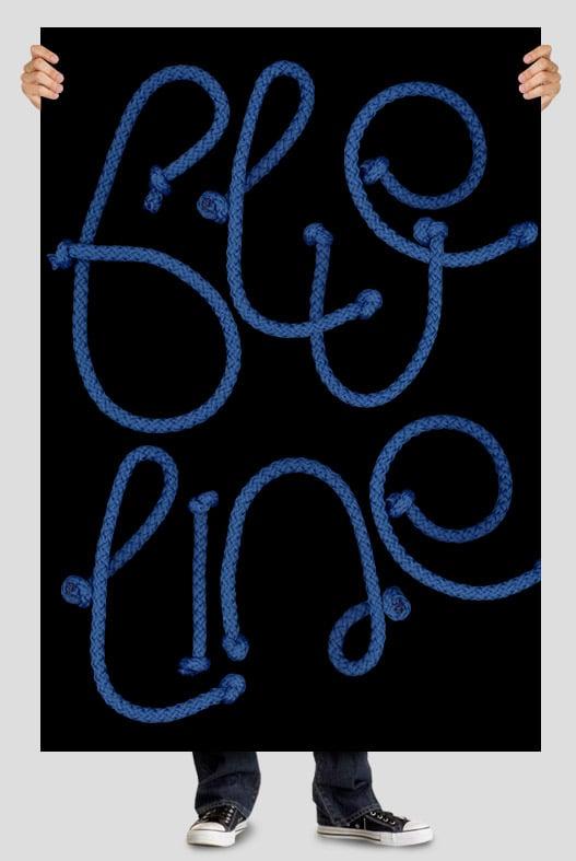 Cord blue font