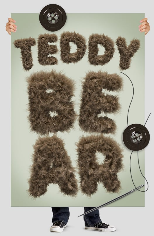 Teddy bear font