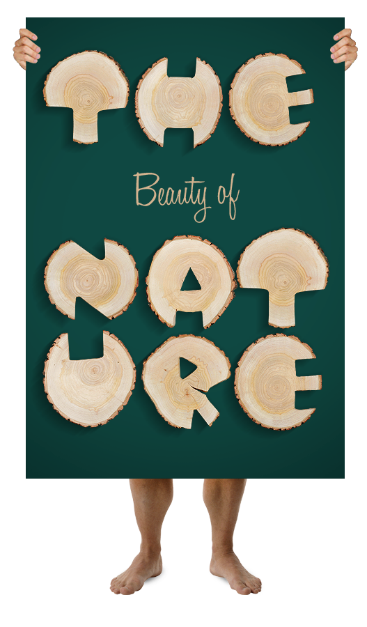 Natural wood font