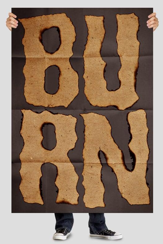 Burn Paper font