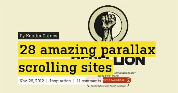 28 Amazing Parallax Scrolling Sites