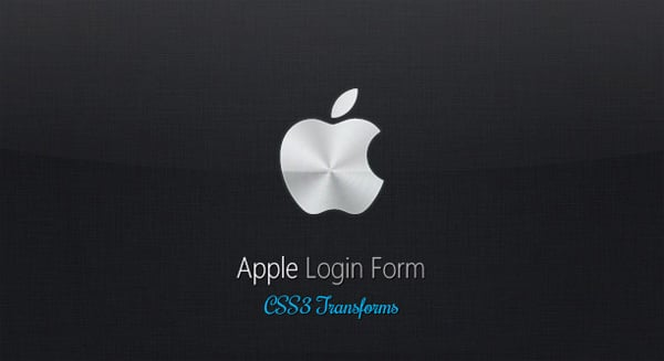 CSS3 Tutorials: Apple-like Login Form with CSS 3D Transforms