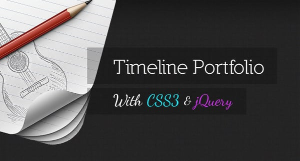 Timeline Portfolio with CSS3 and jQuery