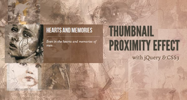 Thumbnail Proximity Effect with jQuerry and CSS3