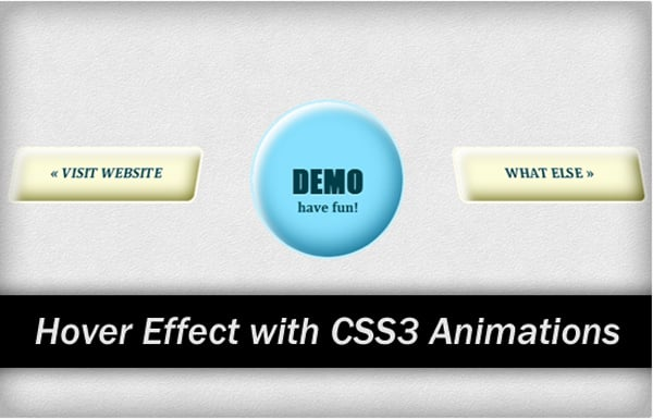 Nifty Hover Effects with CSS3 Animations
