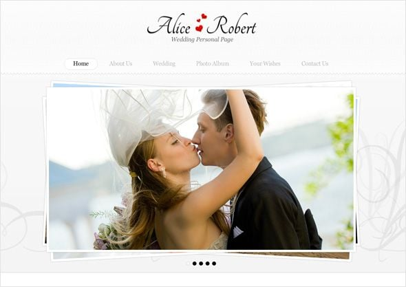 Wedding photo gallery template