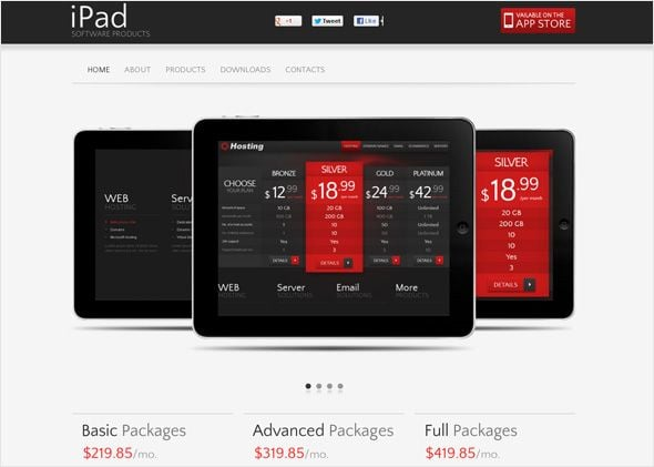 Electronic and gadgets website template