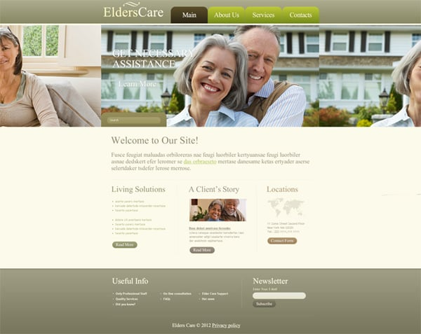 Nature-Elders Care Flash Template