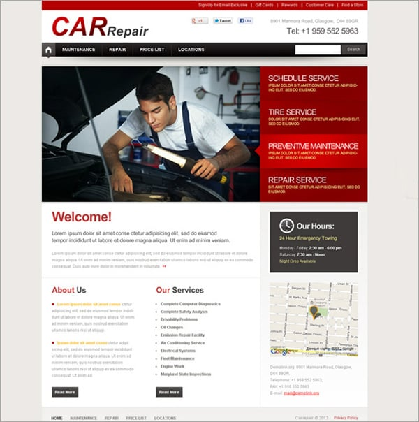 Cars Flash CMS Template