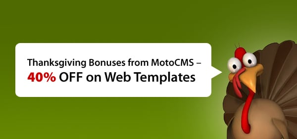 Get 40% discount on MotoCMS templates