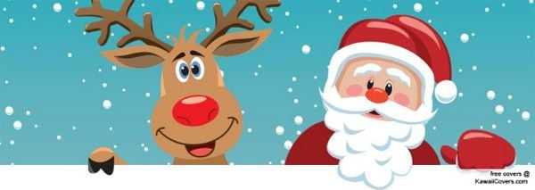 Merry Christmas Santa Claus And Rudolph