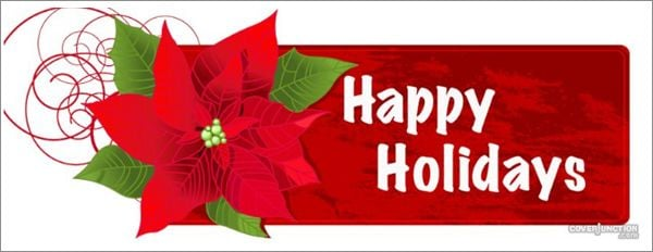 Happy Holidays Profile Facebook Cover