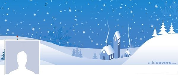 Cute Home in the Snow Facebook Cover