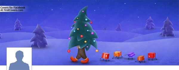 Christmas Tree Profile Facebook Cover